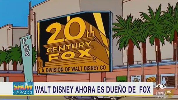 #ShowCaracol Los Simpson también lo predijeron: Disney compró parte de Fox https://t.co/sJKu3jIclf
