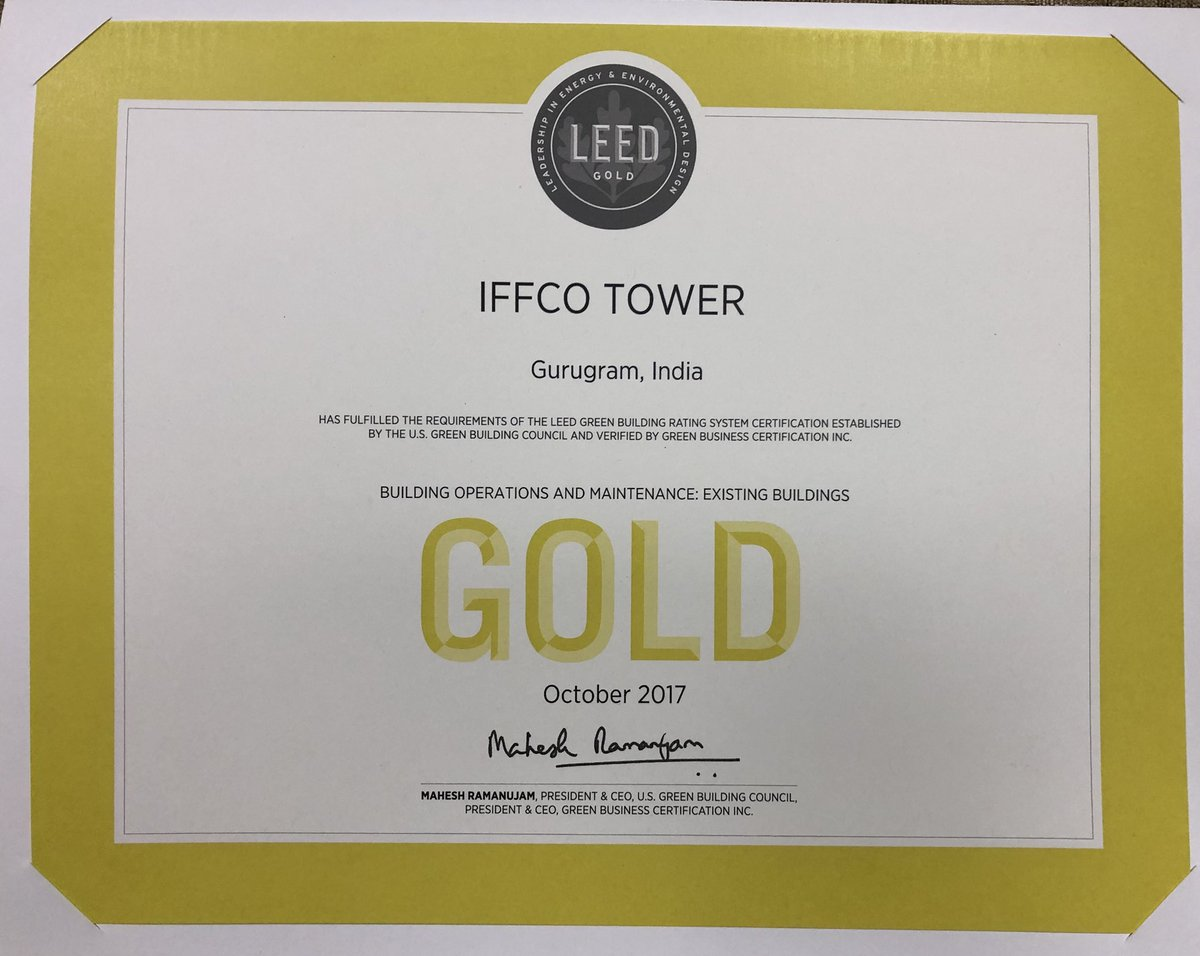Ajay pandey ajaypandey28 twitter most of iffco office buildings are leed certified nowpicittern0x6mpnqru 1betcityfo Images