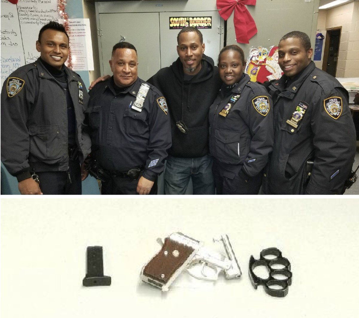 Great work by @NYPD81Pct officers for taking an illegal gun off the streets of #Brooklyn. That's #NYPDprotecting