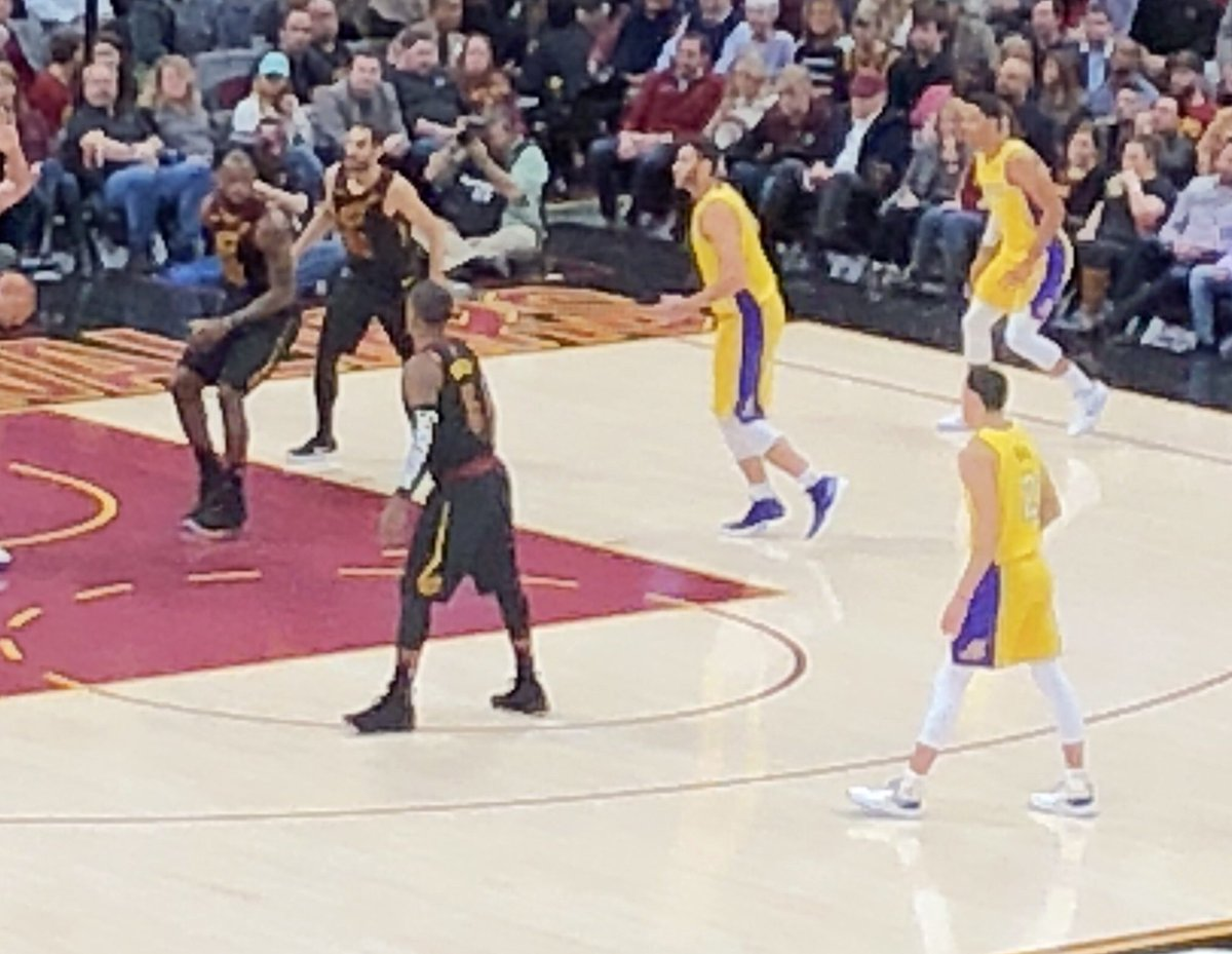 JR Smith pulling a Kelly Oubre with the Supreme arm sleeve