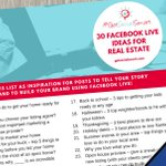 [FREE DOWNLOAD] 30 Facebook Live Ideas for Real Estate - download for free here: https://t.co/bnEAhNn5bS