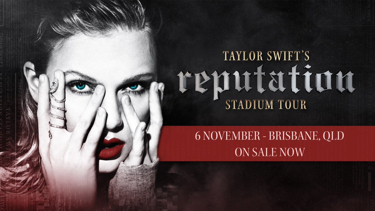 BRISBANE you're up!! #reputationStadiumTour tickets are on sale now 👉https://t.co/xKH4onH8M0