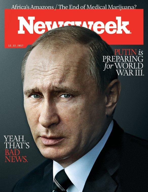 RT @Newsweek: New cover story: Putin is preparing for World War III—is Trump? https://t.co/C94o8qx8Jb https://t.co/PNJkaKVVwl
