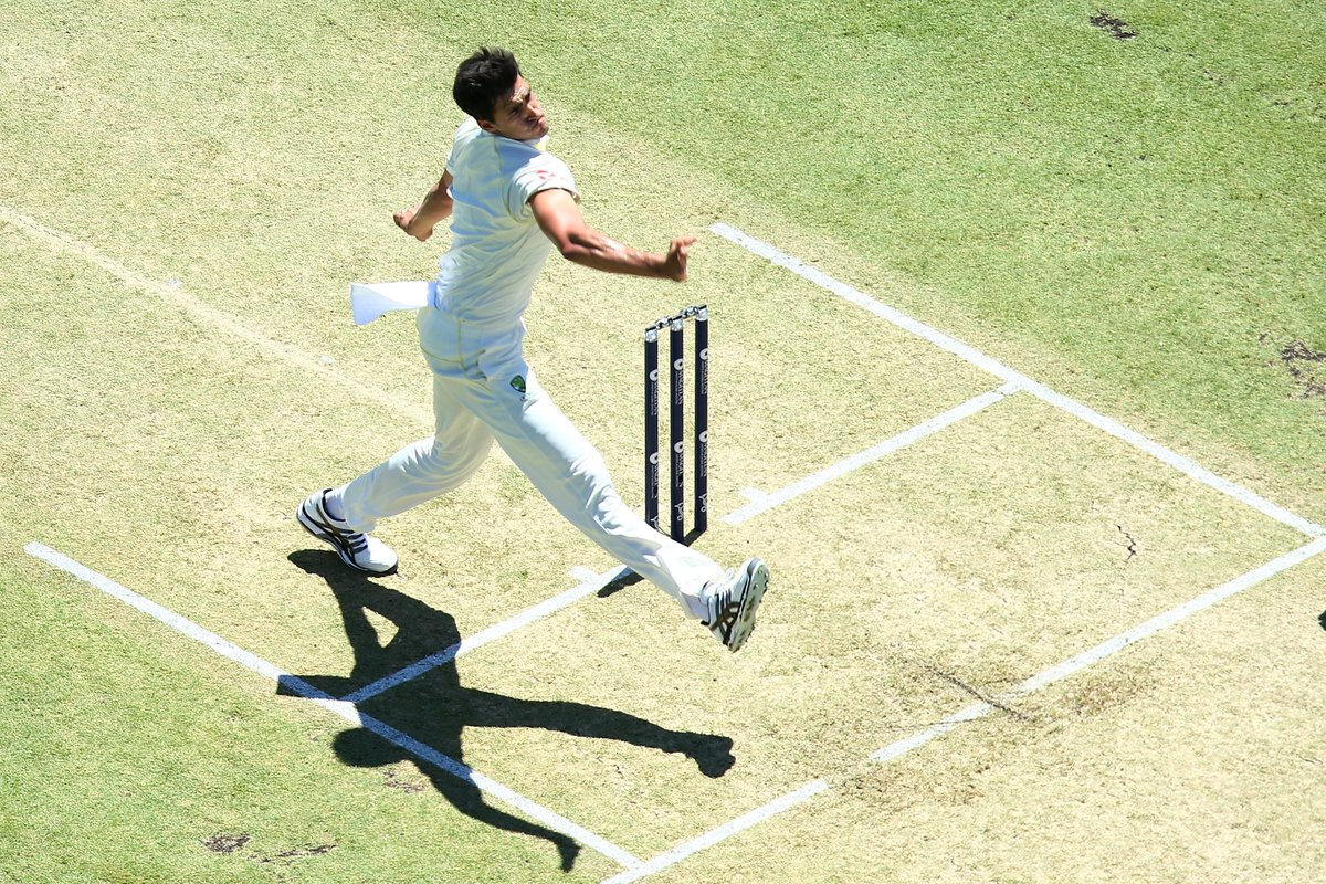 Starc opens up the day bowling to Malan. The @TheBarmyArmy are singing Jerusalem and the sky is clear blue.   England 305/4  Malan 110* Bairstow 75*   📱📻 Join us live 👉 https://t.co/gScArixCk7   #Ashes #bbccricket
