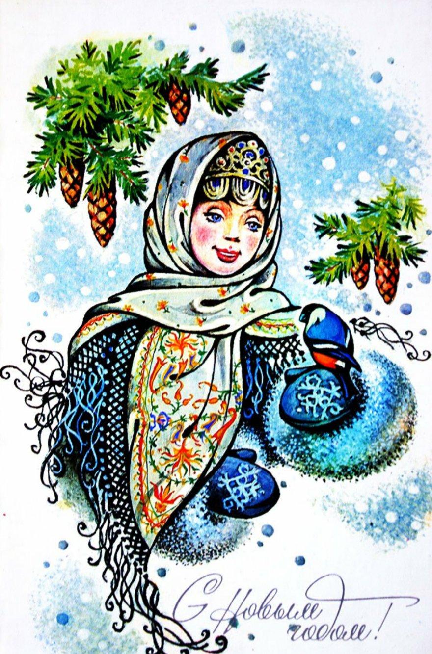 Доктор айболит, рисунки старых открыток к новому году