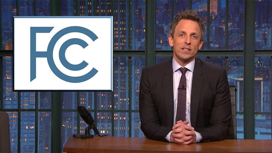 .@StephenAtHome, @sethmeyers poke fun at FCC's net neutrality vote https://t.co/bSWSJXDgCr https://t.co/tzMeAn7ZQD