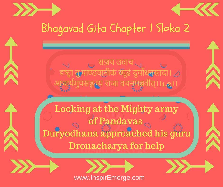 Inspiremerge On Twitter Bhagavad Gita Chapter 1 Sloka 2