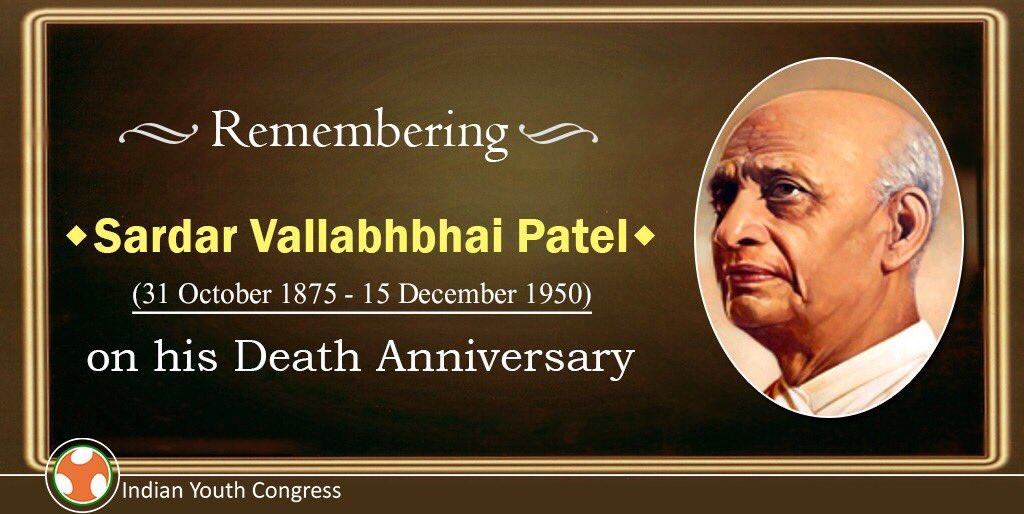 Remembering iron man of India Sardar Pat...