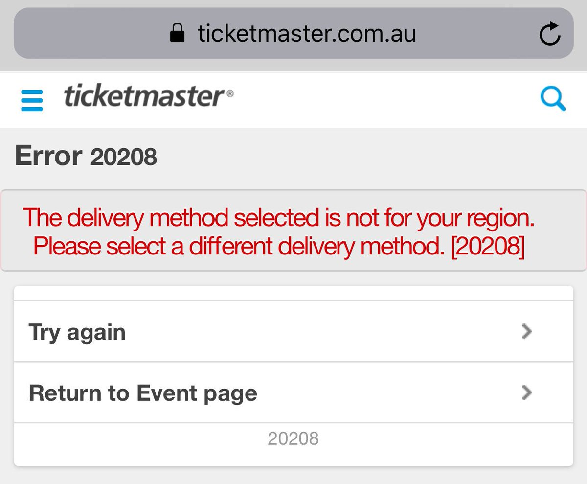 "ticketmaster au on twitter: ""hi samantha, are you selecting the"