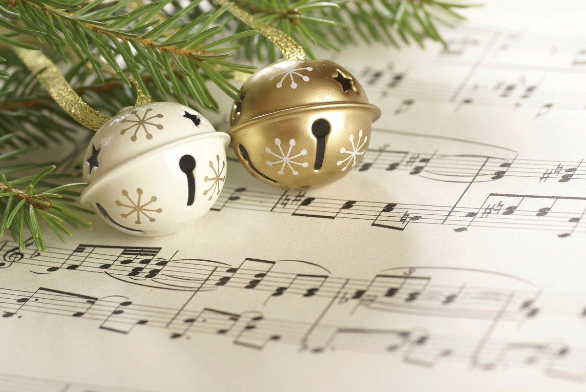 Музыка новогодняя открытка
