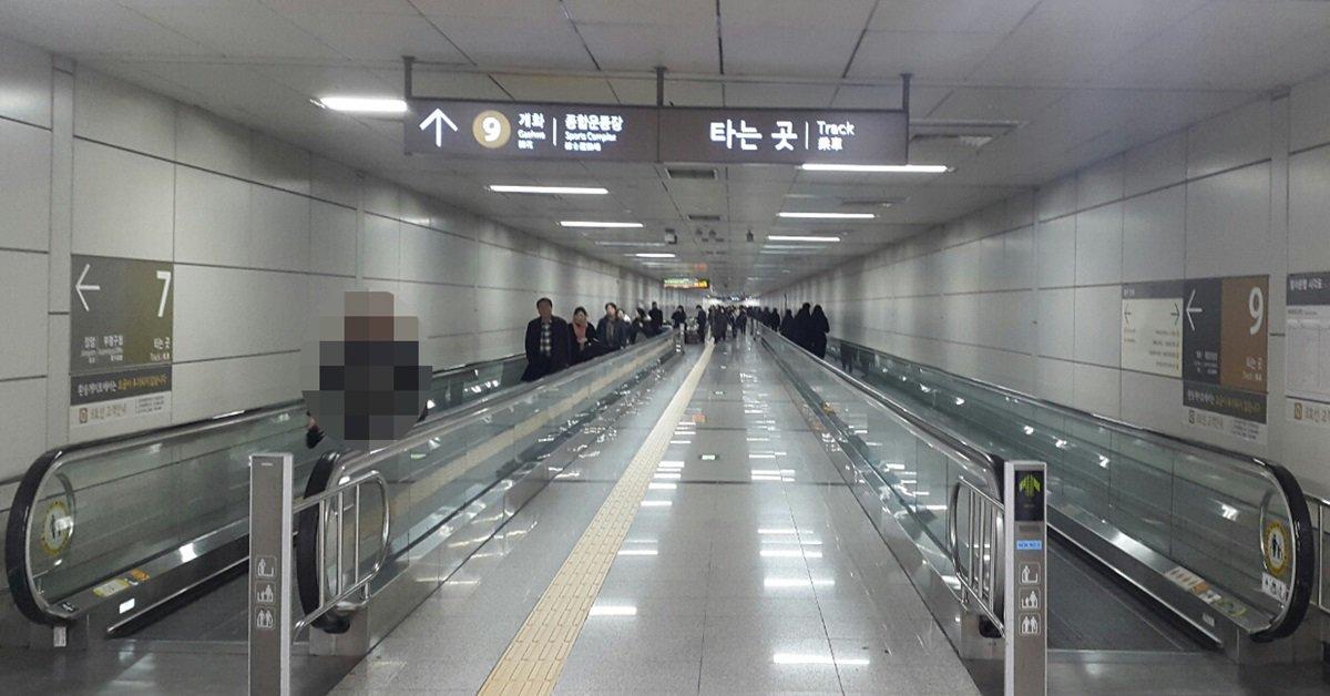 고속터미널 환승하는 게 '노동'인 이유. 서울에서 환승 거리가 가장 긴 지하철역이기 때문. 7호선 승강장에서 9호선 승강장까지의 거리는 314m(에스컬레이터와 가장 가까운 승강장 지점 기준)다. https://t.co/80KWE6trPj