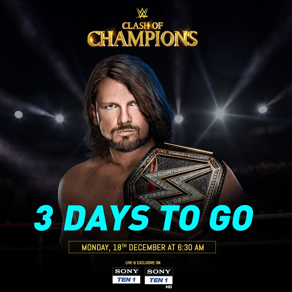 Only 3 Days left for a revolution to begin!#ClashOfChampions