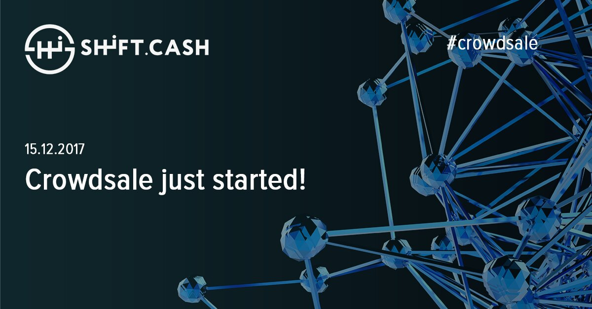 Contribute now:  http:// goo.gl/DcXGMS  &nbsp;      #shiftcash #loan #money #ico #tokensale #blockchain #investing #btc #bitcoin #eth #ethereum <br>http://pic.twitter.com/UZOaP8BM3B