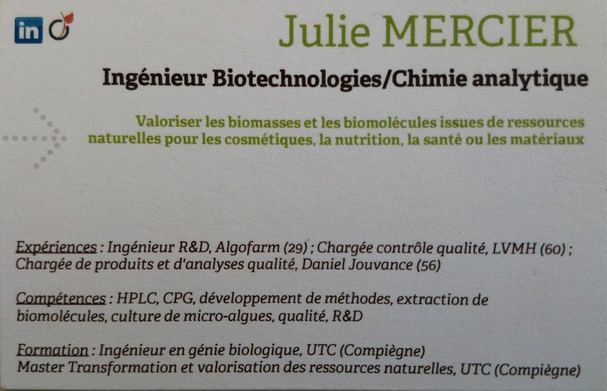 @i4Emploi  #PleaseRT, Recherche une opportunité comme #Ingénieur #RechercheetDéveloppement en #chimie ou #biotechnologie dans les domaines de la #valorisation de #ressourcesnaturelles, mobilité #France et #Étranger, #i4EmploiR,  https://www. linkedin.com/in/julie-merci er-2b98997a/  … , Merci pour votre aidepic.twitter.com/wwUmA5T3EW