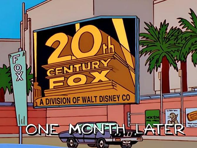 'The Simpsons' predicted Disney would buy Fox nearly 20 years ago https://t.co/s48Ruyrf8f