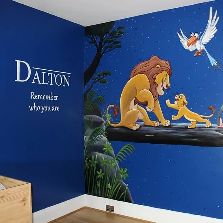 Lion King Mural Painted In A Little Boys Bedroom. #LionKing #simba  #kidsroom #kidsdecor #interiordesign #mural  #NorthEastpic.twitter.com/UrNKrtJTSn