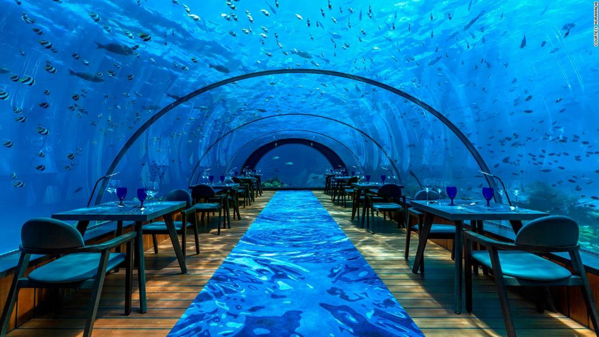 Step inside the world's largest all-glass underwater restaurant, where you can dine with the fishes without getting wet https://t.co/pRJuoZMqSb via @CNNTravel