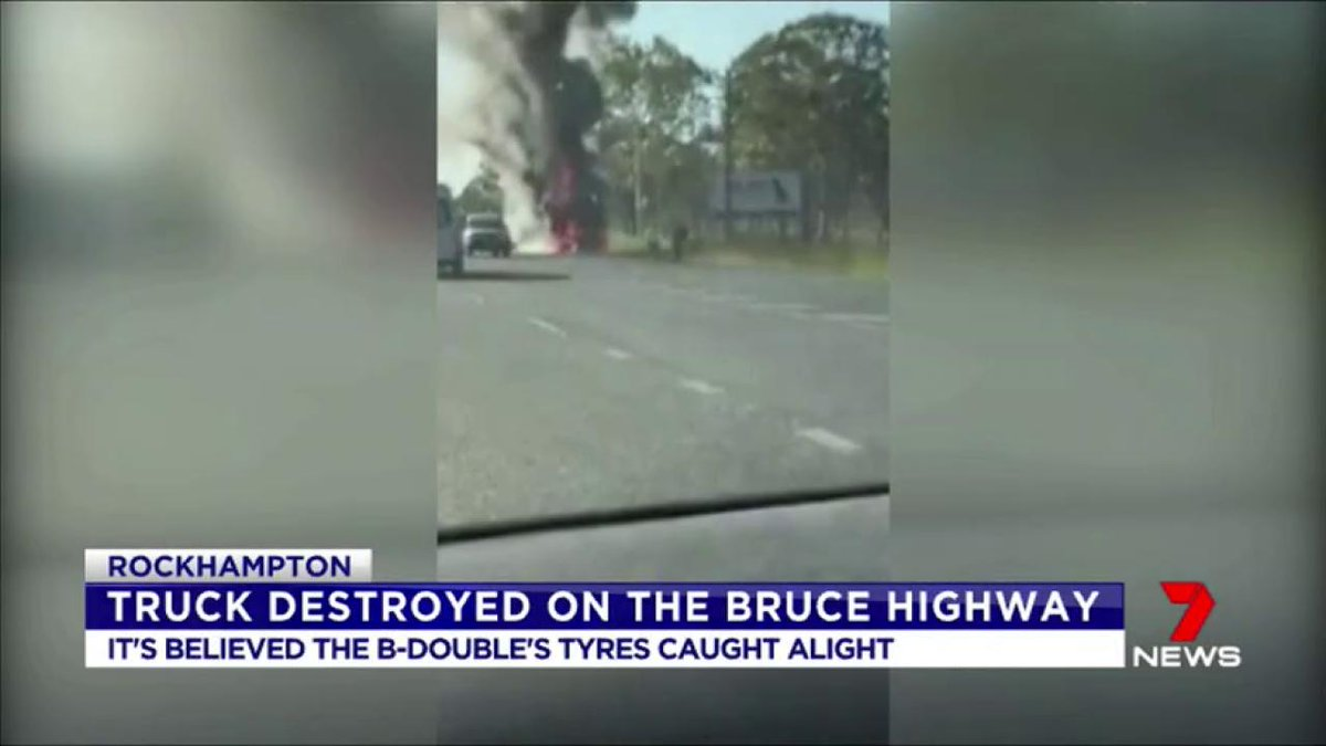 A truck has been destroyed by fire on the Bruce Highway near Gladstone. https://t.co/xz9WiwqNed #7News