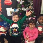 Here's nursery having a wonderful #ChristmasJumper...