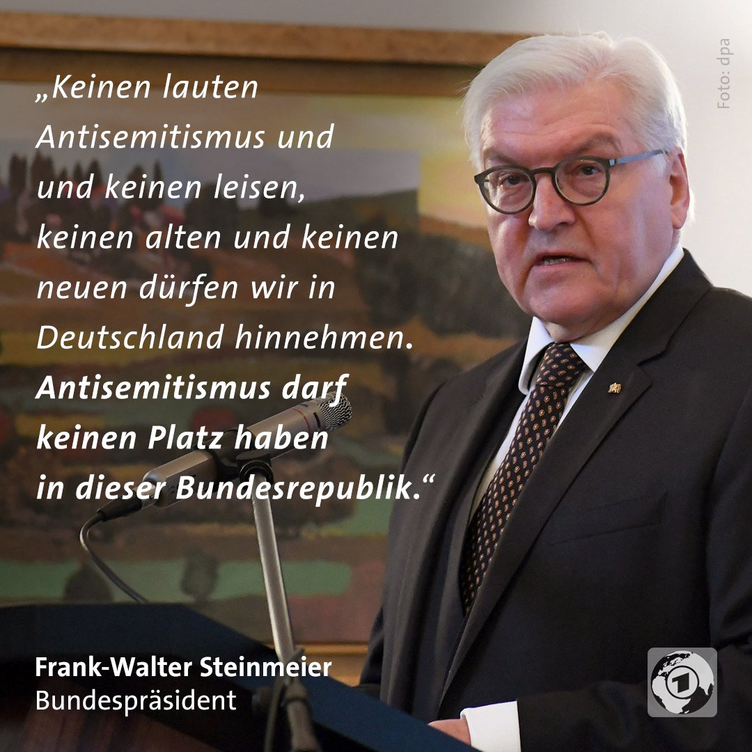 Der Bundespräsident ruft dazu auf, konsequent gegen Judenfeindlichkeit vorzugehen. #Antisemitismus #Steinmeier