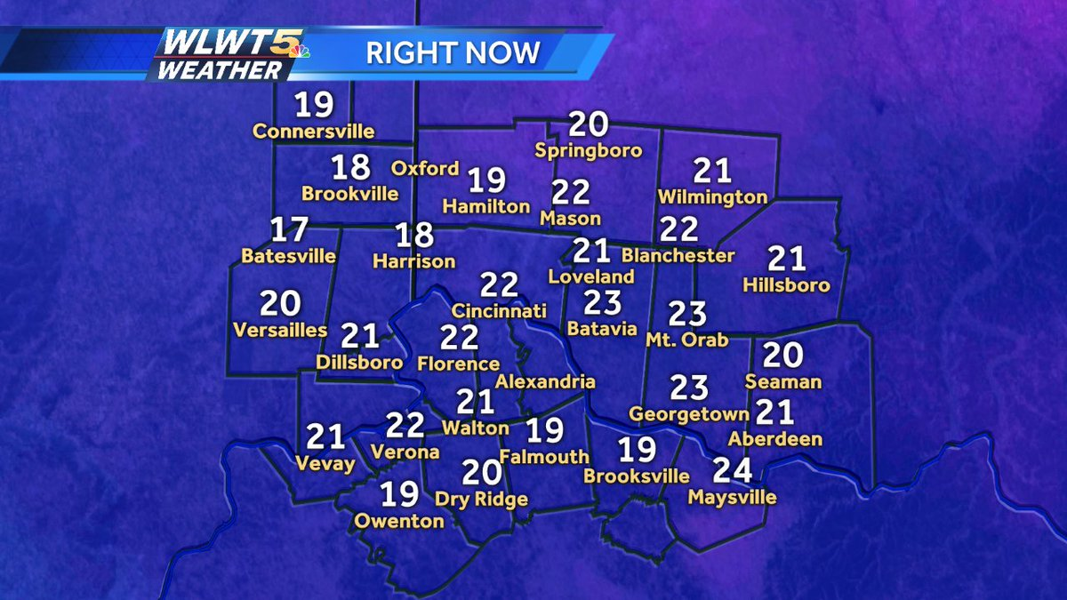 Here is a look at current temps, For more weather info join us on #WLWT Streaming live now: https://t.co/AquQfRWTas