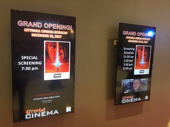 LOOK: CityMall, ABS-CBN launch Boracay's first cinemas with 'Star Wars: The Last Jedi.' | via @JojoMalig