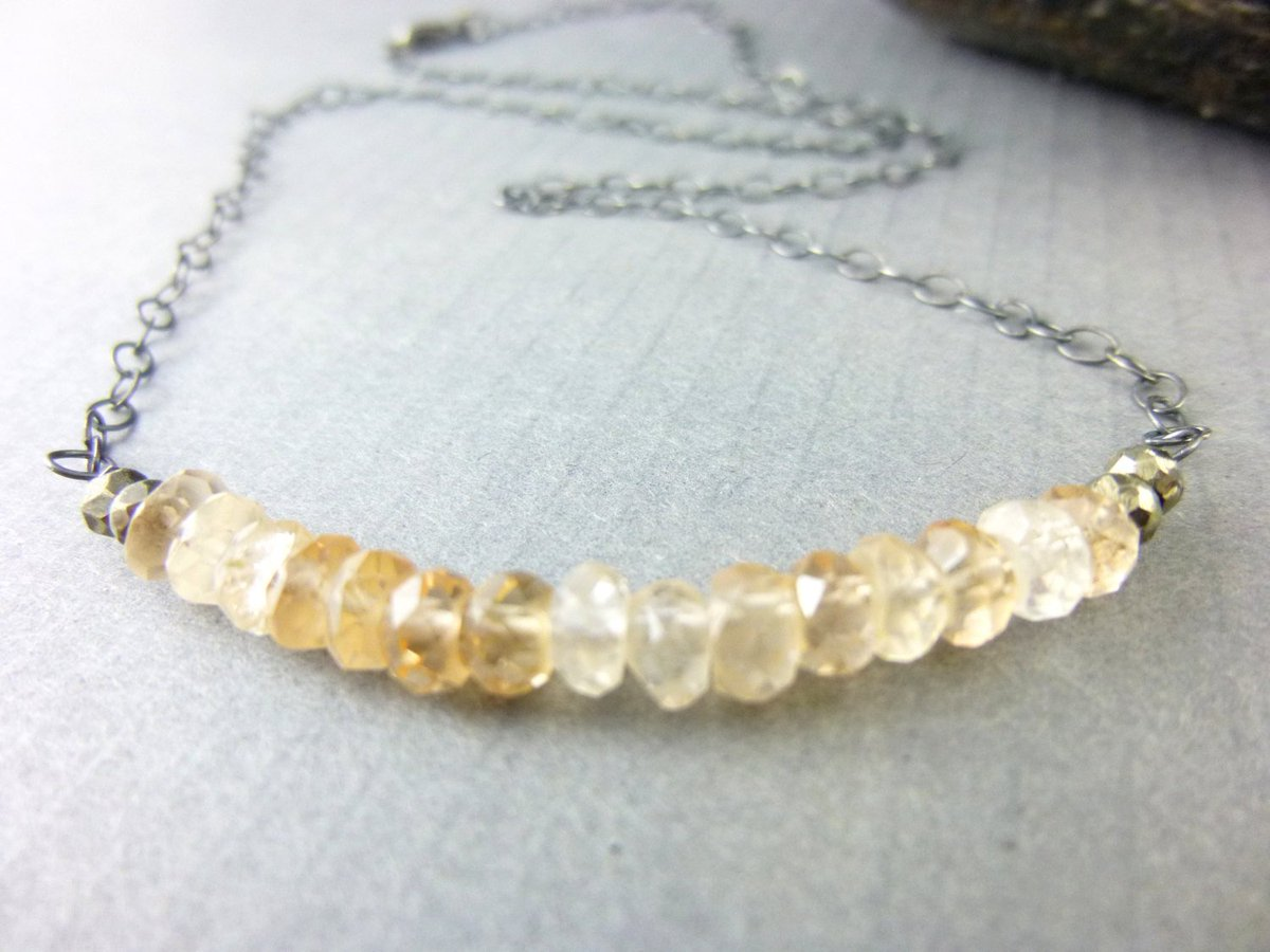 Imperial Topaz Chakra Necklace, Gemstone Bead Bar, Crown, Heart &amp; Solar P…  http:// bit.ly/2d9wbuV  &nbsp;   #jetteam #Jewelry <br>http://pic.twitter.com/BoEBH9XVWi