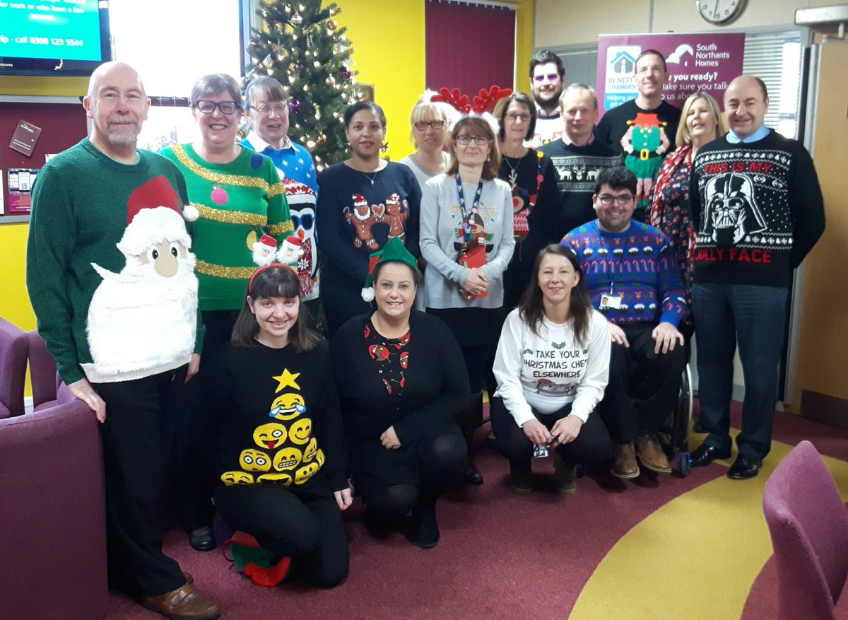 test Twitter Media - One more Christmas jumper photo? Oh go on then! Staff at our Towcester office are joining in #ChristmasJumperDay in aid of @savechildrenuk. Some have even added festive headwear! https://t.co/BFRHr1p7AW