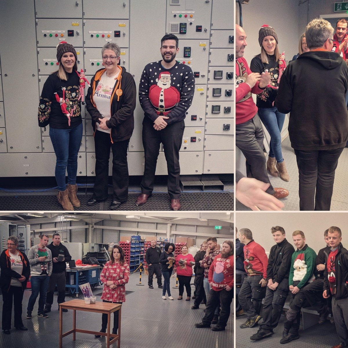 test Twitter Media - Christmas Jumper Day today at TES HQ. Well done to the winners Irene & Calum and thanks to Carol Doey from HubBT80 for judging 🎅🎄#ChristmasJumperDay https://t.co/dF6z12NGTB