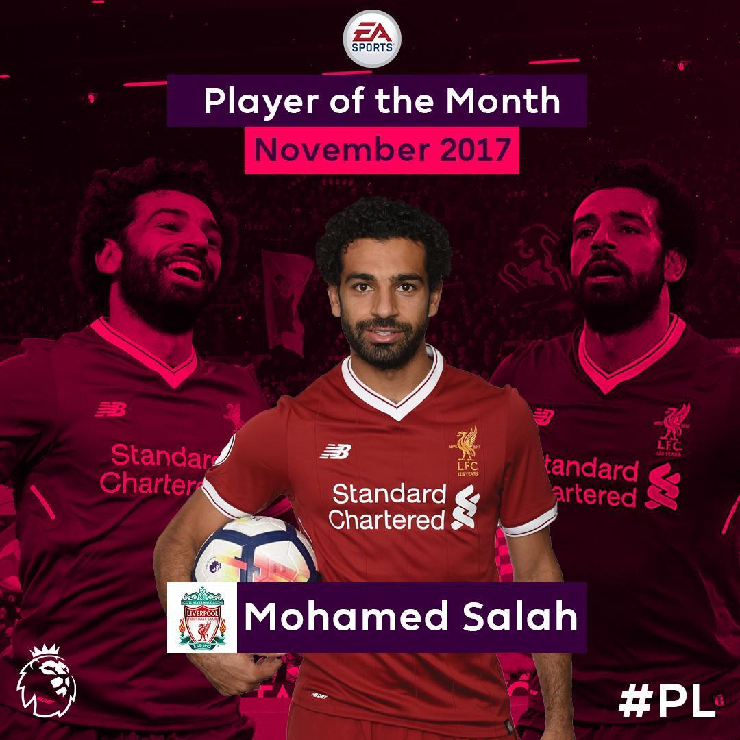 Salah là cầu thủ hay nhất tháng 11