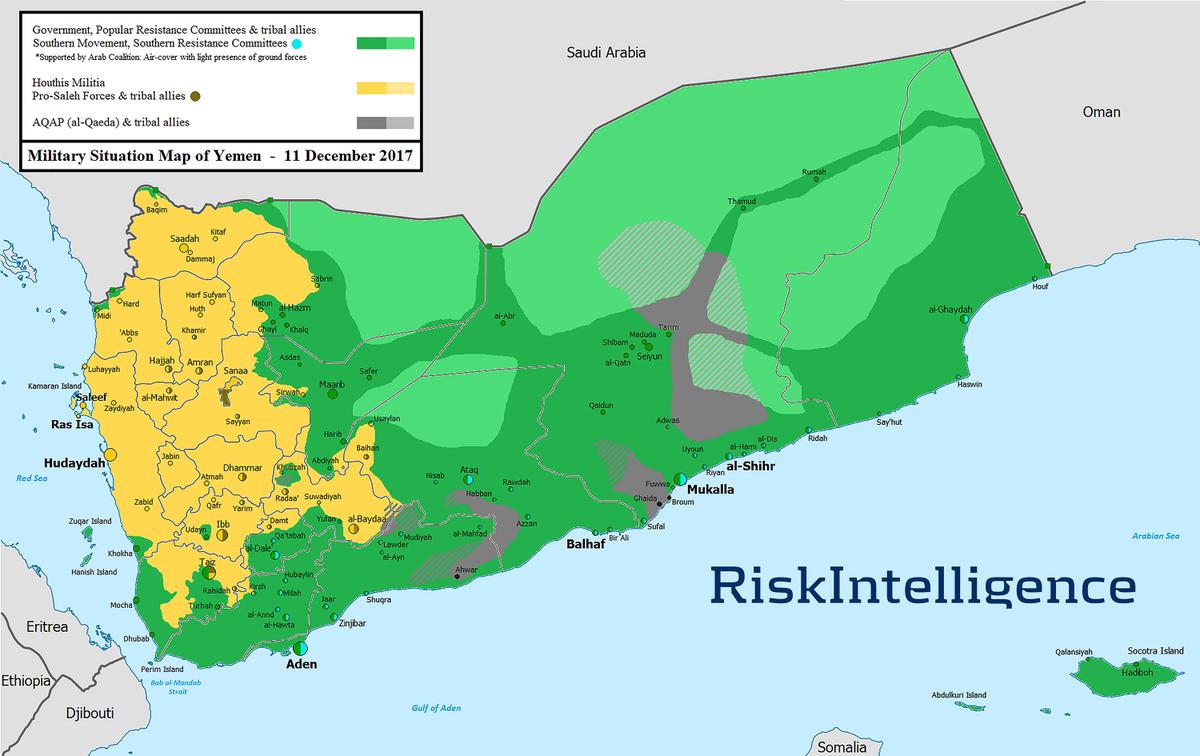 Risk Intelligence On Twitter Yemen Map On December Anti - Yemen map png