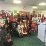 A great effort from the office on #ChristmasJumperDay