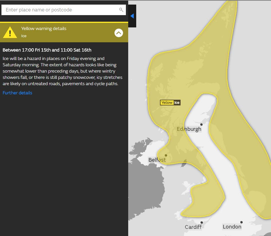 test Twitter Media - New @metoffice YELLOW warning for ICE has been issued ⚠️  From 5pm today until 11am tomorrow ⌚  ❄️ For all areas affected please check: https://t.co/7GsEUZDBd9 https://t.co/31sieit8Ts
