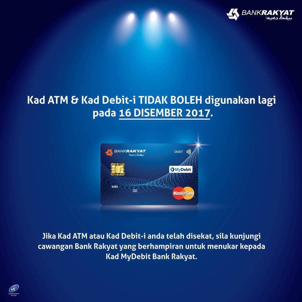 Bank Rakyat On Twitter Perhatian Kepada Pemegang Kad Atm Dan Kad Debit I Bank Rakyat Pada 16 Disember 2017 Kad Tidak Boleh Digunakan Lagi Jika Kad Disekat Sila Kunjungi Cawangan Berdekatan Untuk Menukar