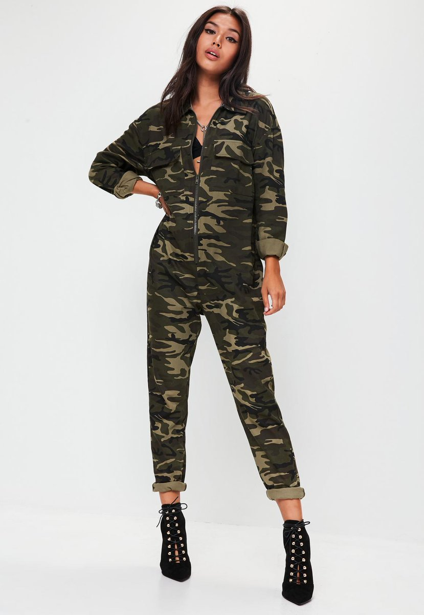 ATTENTION BABES ✨⭐️✨⭐️✨  This camo jumpsuit has just dropped, just one of our fave 2018 trends landing on site RN 💓💞💞  Shop it here: https://t.co/YkQgwwEXlN
