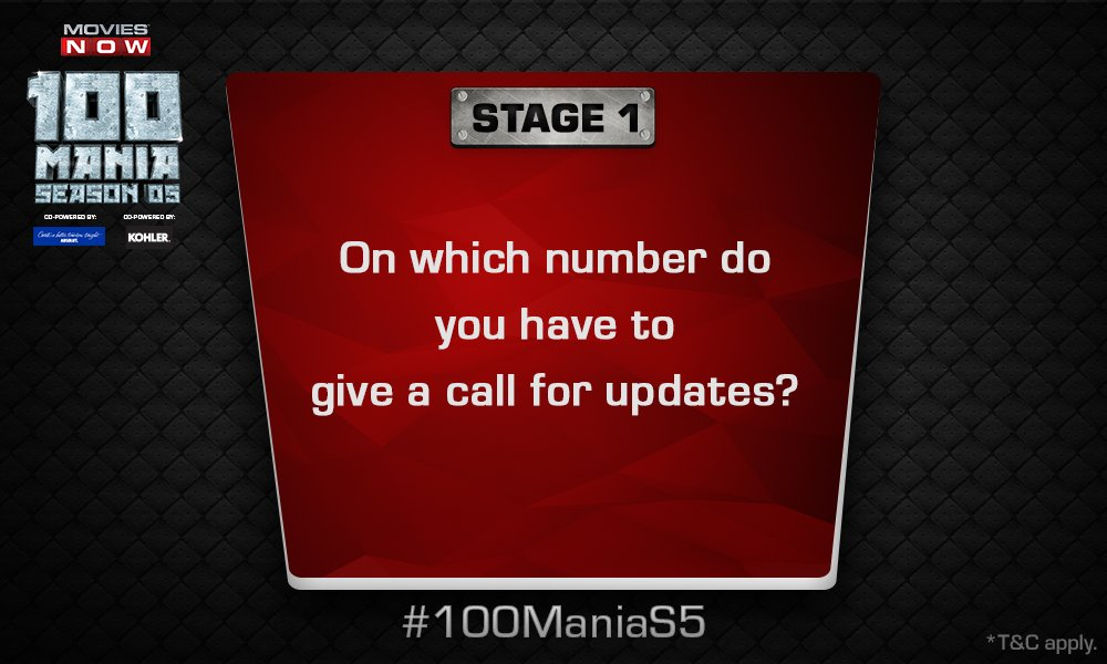 A missed call can change your life only if you dial the correct number! #100ManiaS5 https://t.co/FAPQbpMkZI