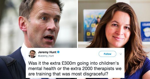 Jeremy Hunt being owned again on Twitter...