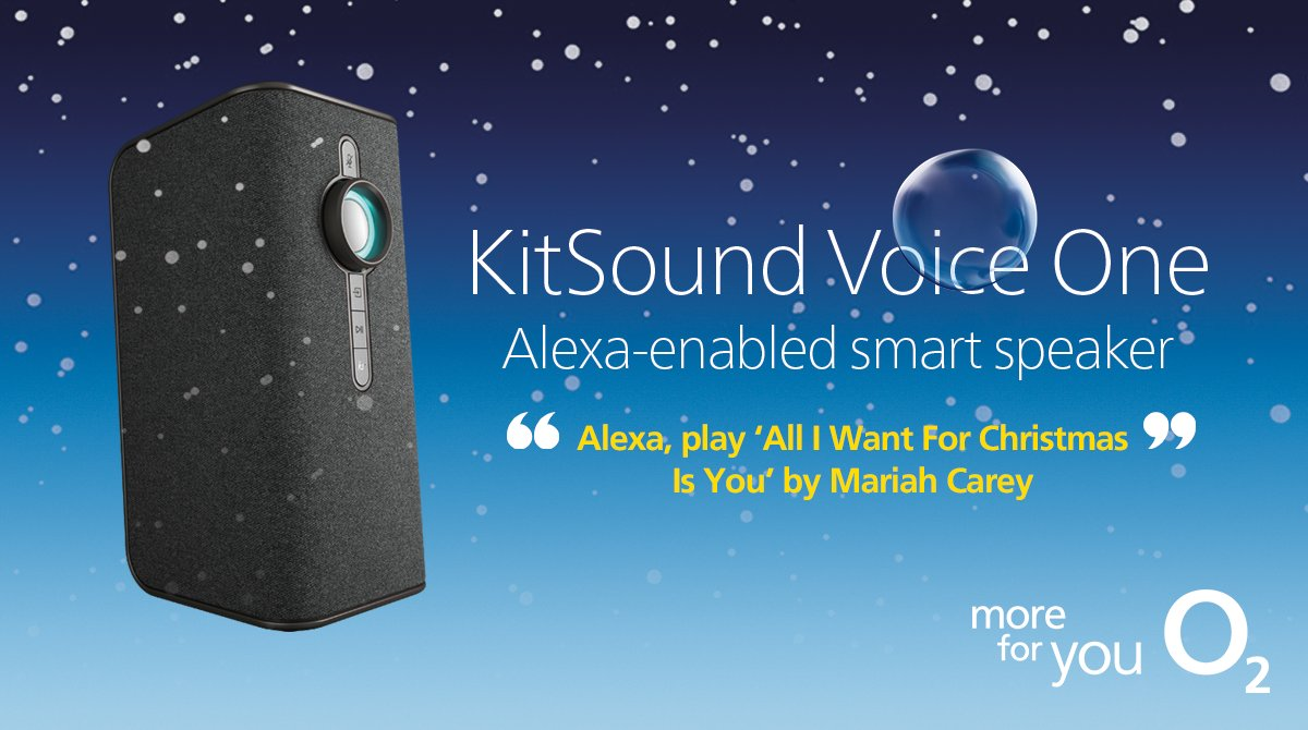 With the KitSound Voice One, chill out to your favourite Christmas jingles 🎵 on the big day just by asking Alexa 💁♀️. Get yours now  https://t.co/1MALFWdVNo