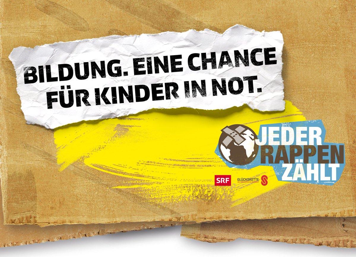 Die Spannung steigt: Der Startschuss zur diesjährigen Ausgabe von #JederRappenZählt erfolgt um 16.00 Uhr. Zusammen mit der @Glueckskette sammelt #JRZ für die Schul- und Berufsbildung von Kindern und Jugendlichen. @srf3 #JRZ171#luzern7