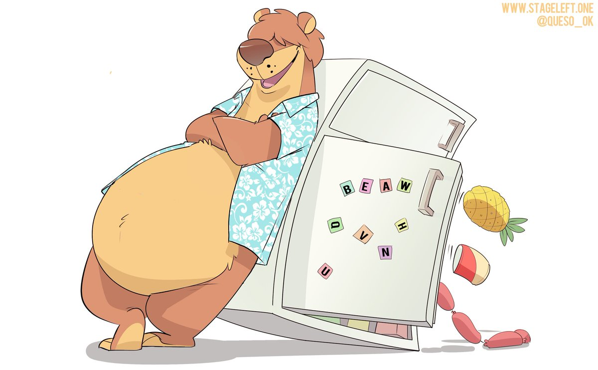 AWWWH💕💕. @Gran_Veil got me some gift art from @Queso_Ok 🐻✨ check out this GOOD BEAW.
