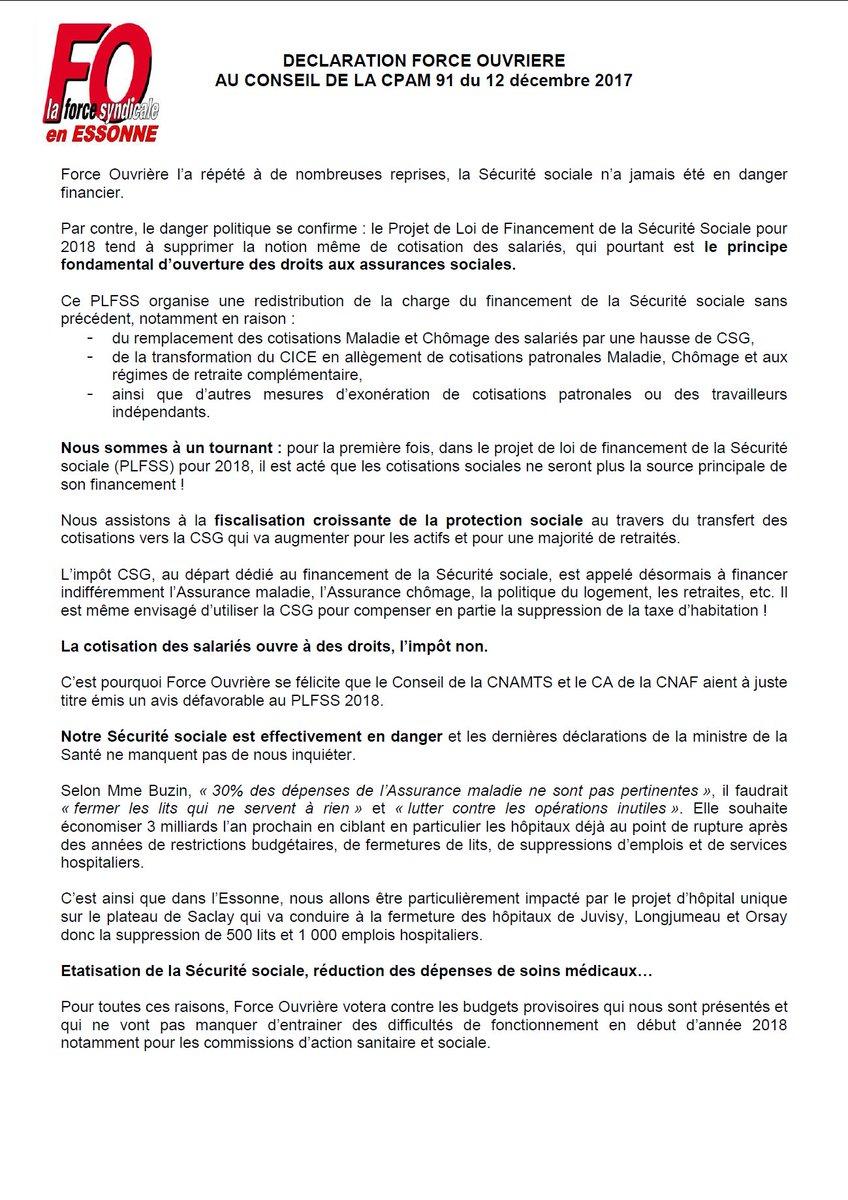 fa008b9815e ... de nous inquiéter  http   www.udfo91.fr wp-content uploads 2017 12 DECLARATION-FO-au-Conseil-du-12-d%C3%A9c-2017.pdf  …  PLFSS  CICE  CSG  SecuriteSociale ...