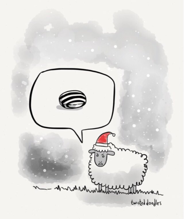 The sheep that hated Christmas. #pun htt...