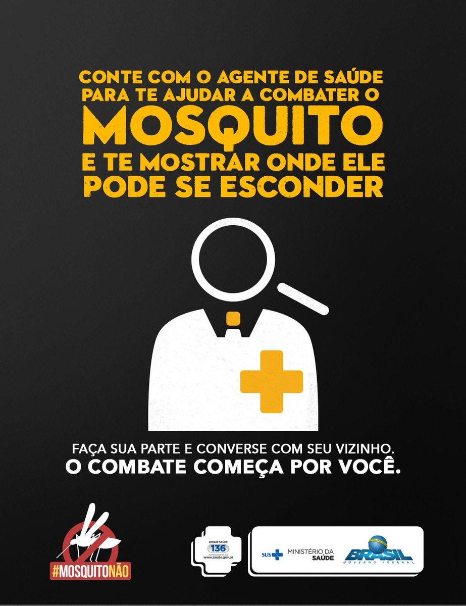 O combate ao Aedes aegypti tem que ser feito semanalmente! Com características diurnas, o mosquito pica ao amanhecer e entardecer. Fique atento! A cada 10 minutos, quase 40 pessoas* são infectadas com doenças do Aedes. https://t.co/7Y0k6BuEKd  #MosquitoNão *Dados de 2016
