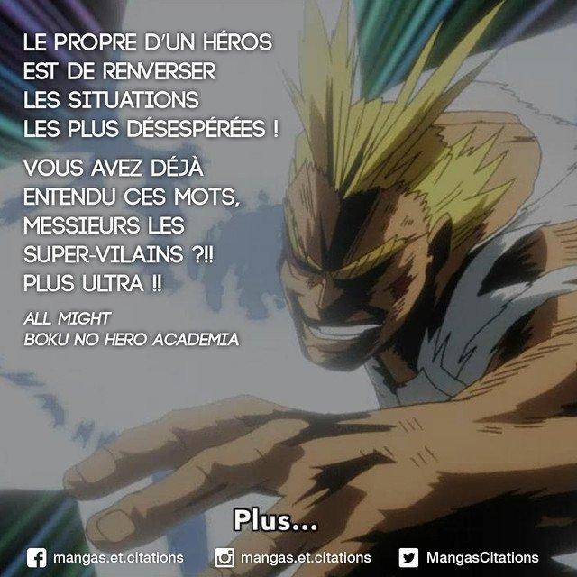 Citation Manga Anime On Twitter Le Propre D Un Heros Est De