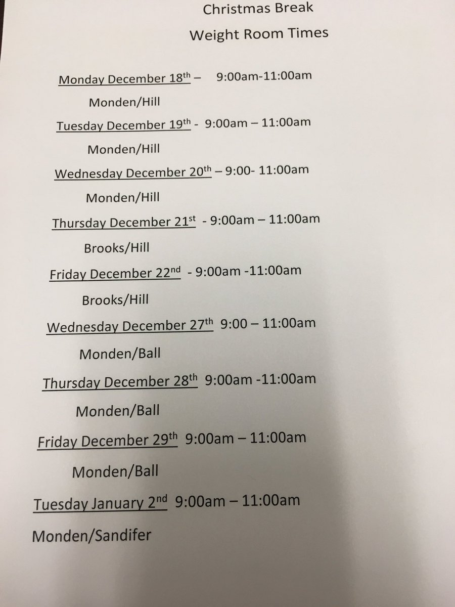 cardinal football on twitter cardinal christmas break weight lifting dates and times - Christmas Break Dates