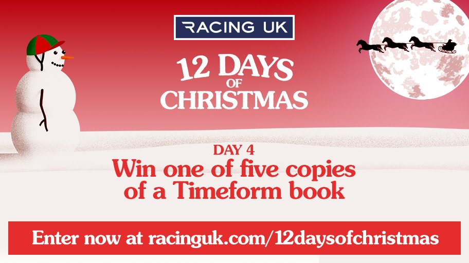 🐦 On the fourth day of Christmas my true love gave to me, four calling birds.... 🐦  OR... Racing UK gives you the chance to win Timeform's 50 Horses to Follow book  with £25 Timeform Credit  Enter Now ➡️ https://t.co/AKwgvJu4bQ