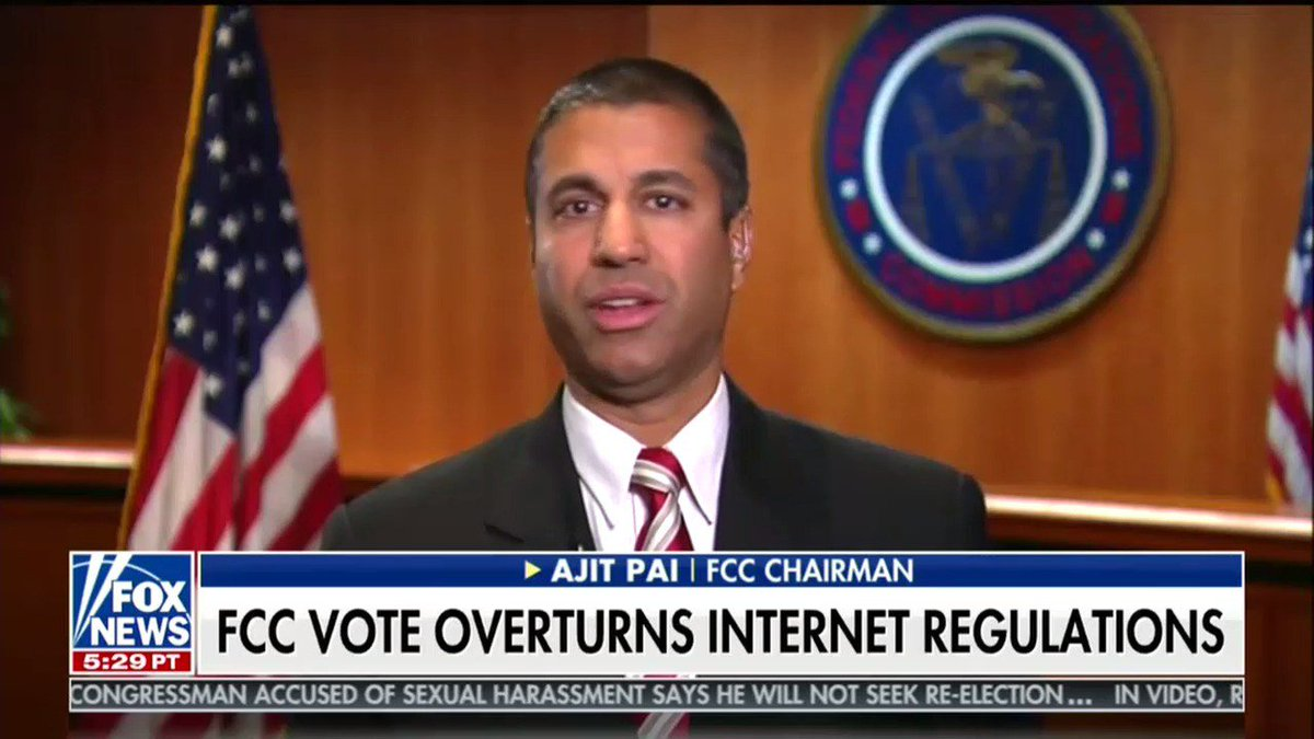 The FCC chair claims the fact that I can send this tweet today means all the supporters of net neutrality are 'proven wrong'  https://t.co/XRE9CenjkO