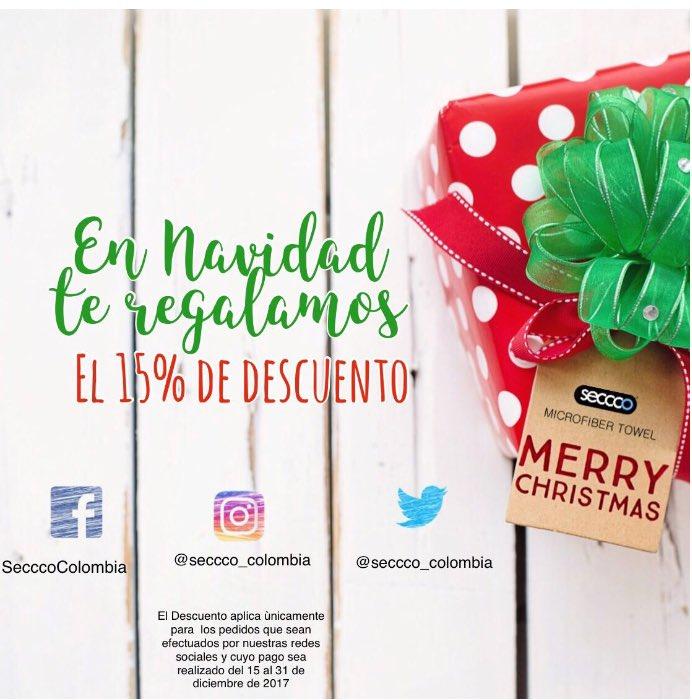 ¡Aprovecha este #regalo que tenemos para ti! Contágiate del espíritu #navideño Regala #SecccoColombia https://t.co/DvkFyVMfjC