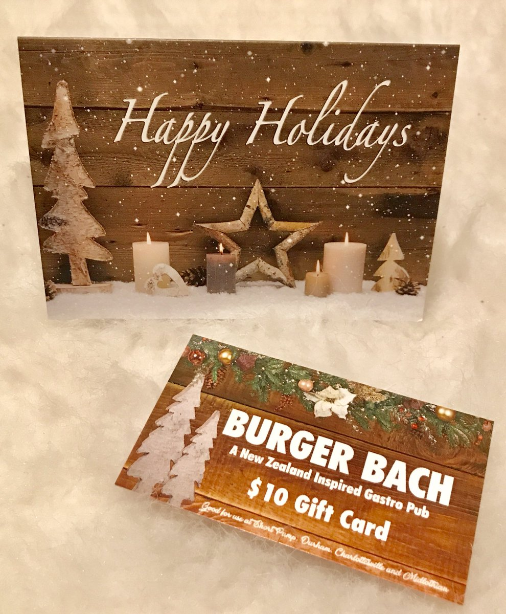 Burger Bach On Twitter Give The Gift Of An Experience Buy 50