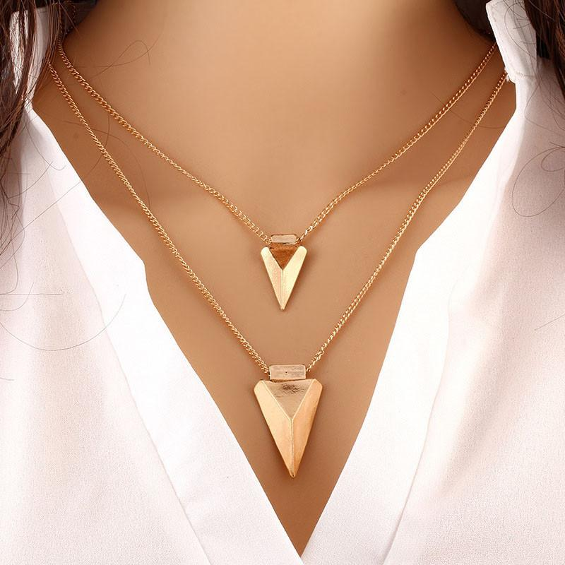 Fashion Women Two Layer Arrow Gold Pendant Chain Statement Necklace #necklace #jewlery #new #women #fashion #style  https:// seethis.co/57GDLo/  &nbsp;  <br>http://pic.twitter.com/hPw9WmBbNH